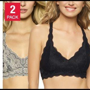 🌹2pcs for $30🌹Black Bow Lace Bralette 2pack sz M